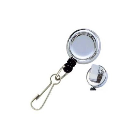 Badge Reel with Spring Clip