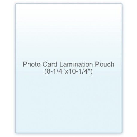 Photo Card Size Laminating Pouch