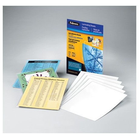 "100 Cold Laminating Pouches - Letter Size - 9"" x 11.5"""