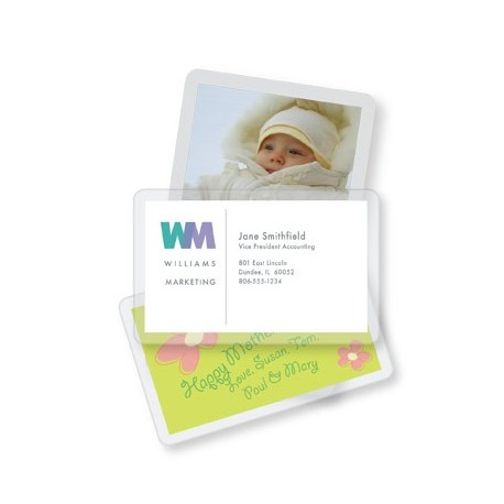 "Cold Laminating Pouches - 5 Mil Business Card - 2.37"" x 3.87"" 5 pack"