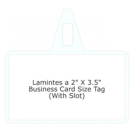 Hanging Label Laminating Pouches