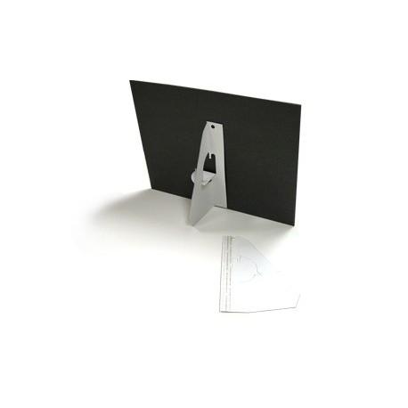 25 Single Wing Easel Backs - White 7 inch