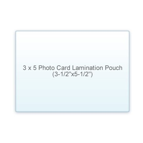 "3 1/2"" x 5 1/2"" Photo Card 3 x 5 Laminating Pouches"