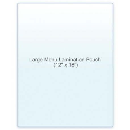 "12"" x 18"" MATTE/MATTE Large Menu Laminating Pouches"