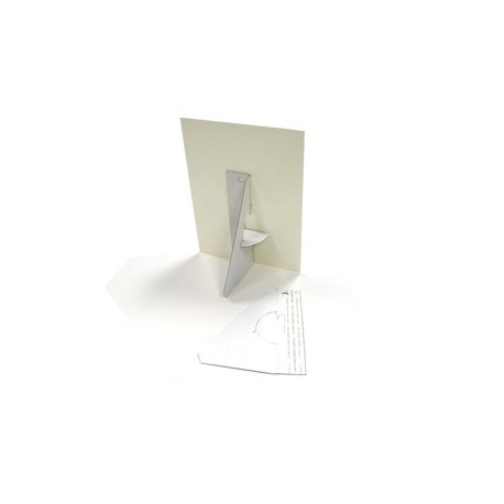 25 Single Wing Easel Backs - White 5 inch