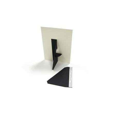 25 Single Wing Easel Backs - Black 7 inch